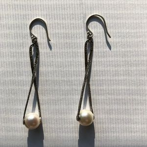"""Silpada  Silver """"Pearl Diver"""" Earrings - W2285"""